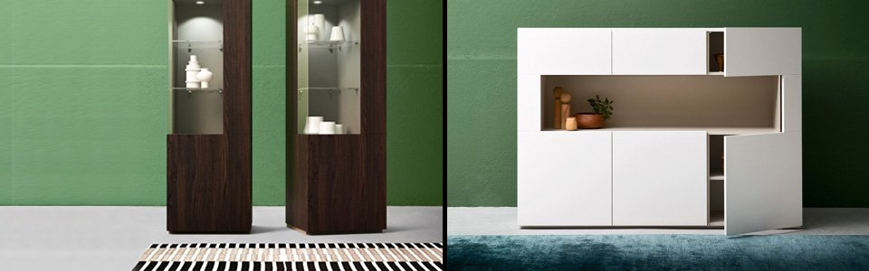 Vetrine moderne arredamento online abitastore for Arredamento vetrine